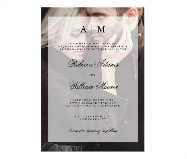 Personalised Photo Wedding Invitations