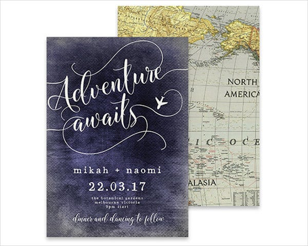 Vintage Destination Wedding Invitations