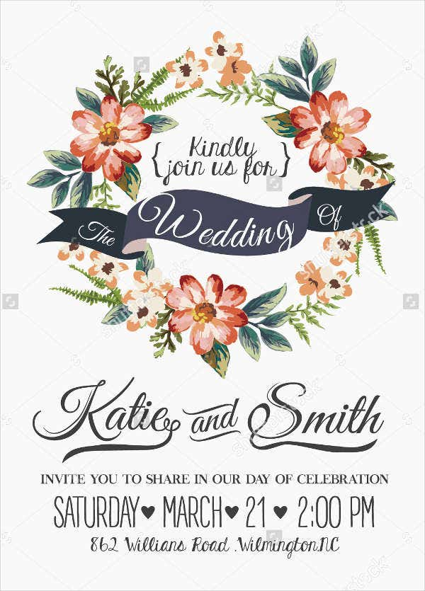 Personalised Retro Wedding Invitations
