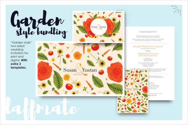 garden party wedding invitations