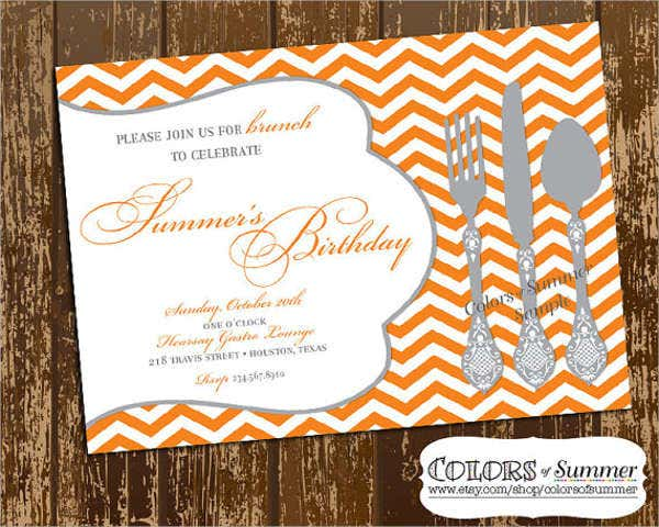birthday lunch party invitation