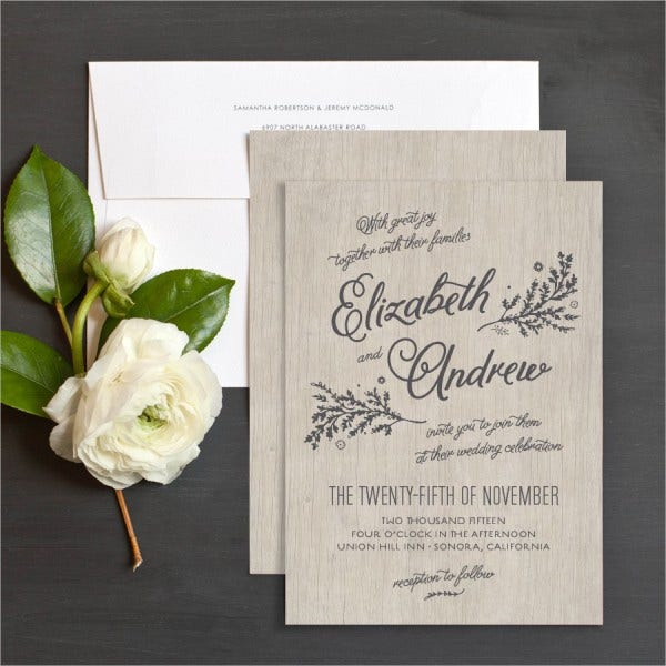 Rustic Destination Wedding Invitations