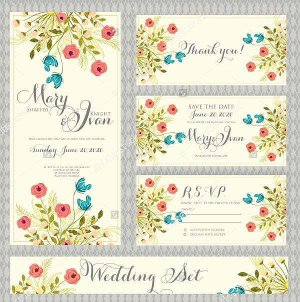 Modern Retro Wedding Invitations