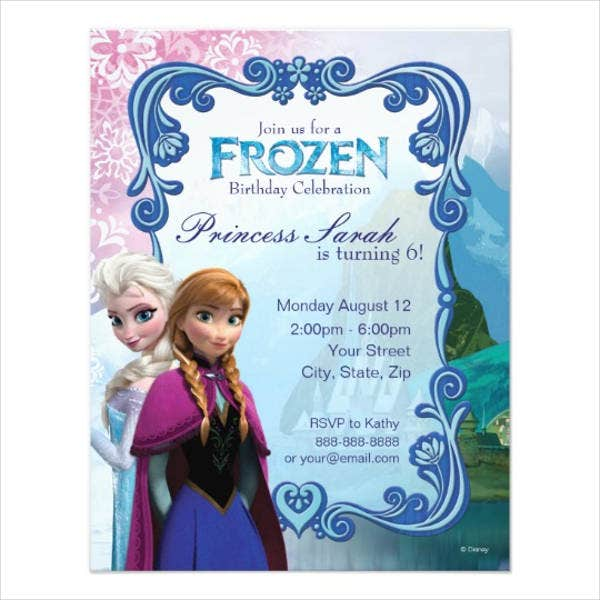 frozen birthday party invitation2