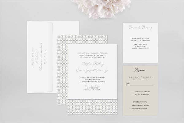 Modern Traditional Wedding Invitations