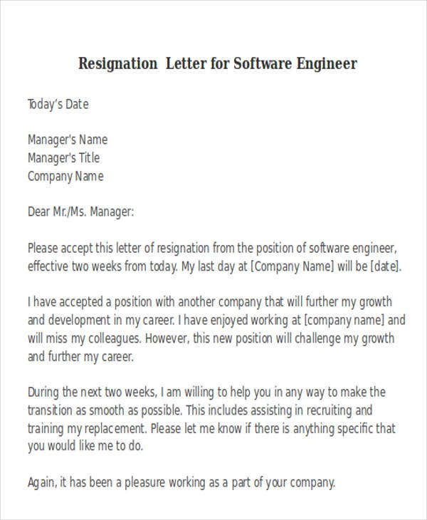 resignation letter format for software developer 38 resignation letter format free amp premium templates 14400
