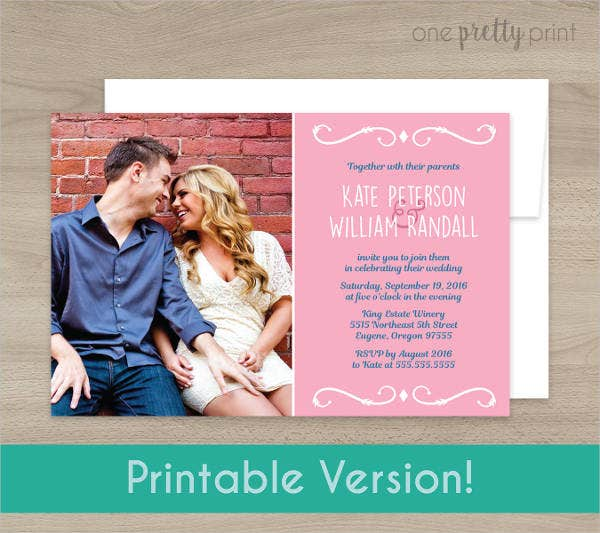 personalised photo wedding invitations1