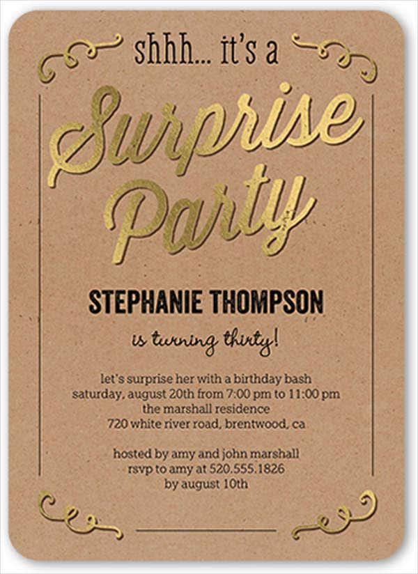 surprise birthday party invitation1