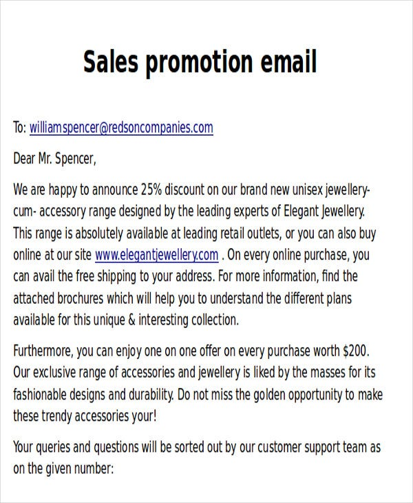 sales promotional email1
