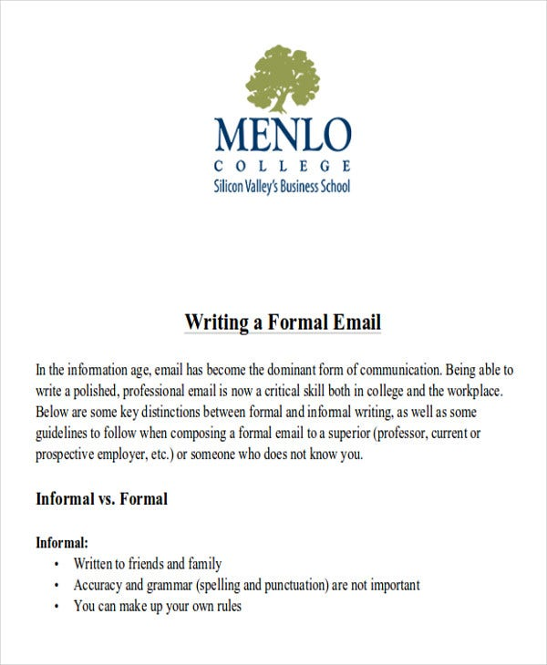 formal promotional email