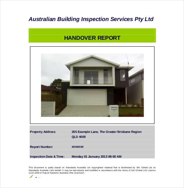 building inspection handover report min