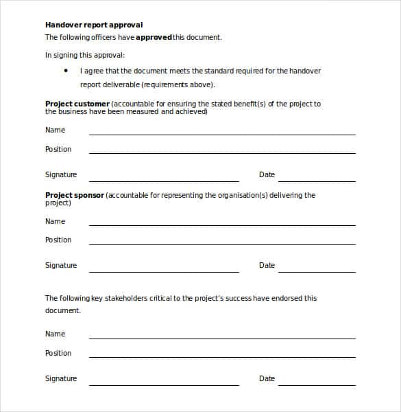 Handover report template 20 free word pdf documents download tmrqld if youre writing a handing over note to transfer a project to someone else you could go for this handover note template thecheapjerseys Gallery