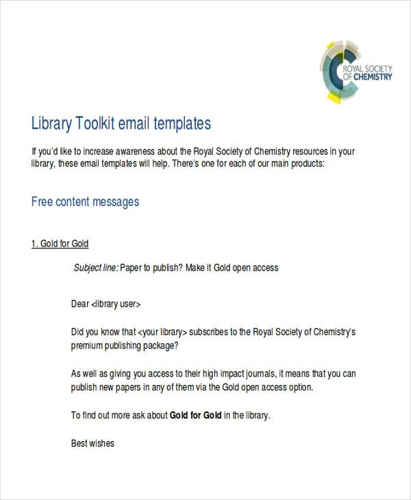 free promotional email template