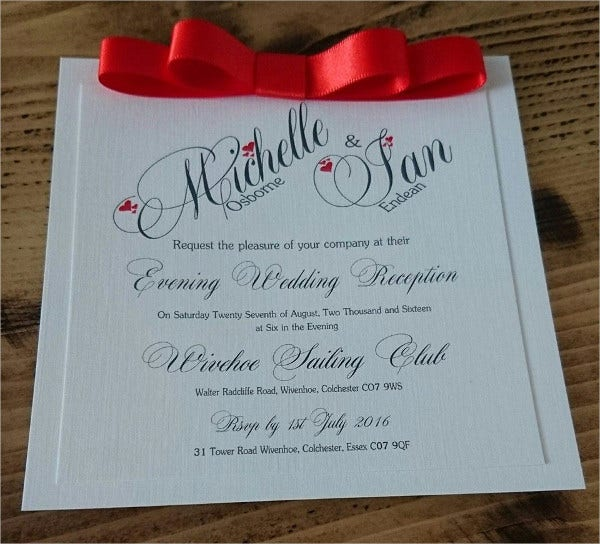Flat Handmade Wedding Invitations