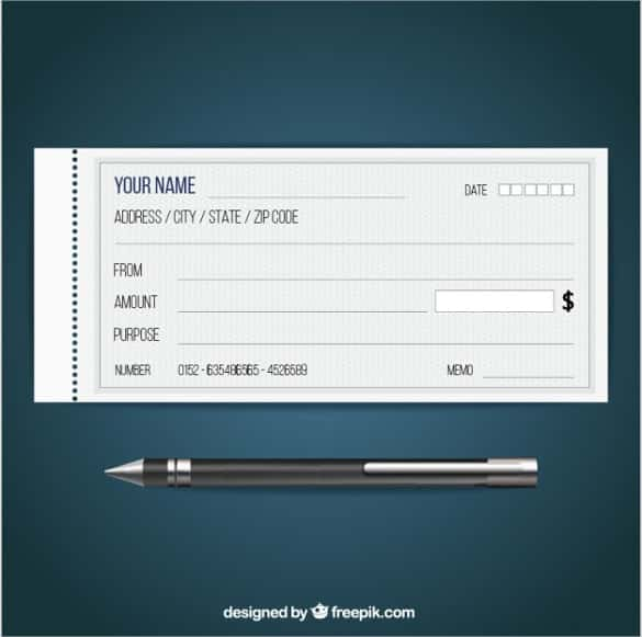 blank check free vector min