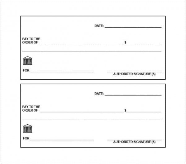 photograph regarding Blank Checks Printable called 24+ Blank Look at Template - Document, PSD, PDF Vector Formats