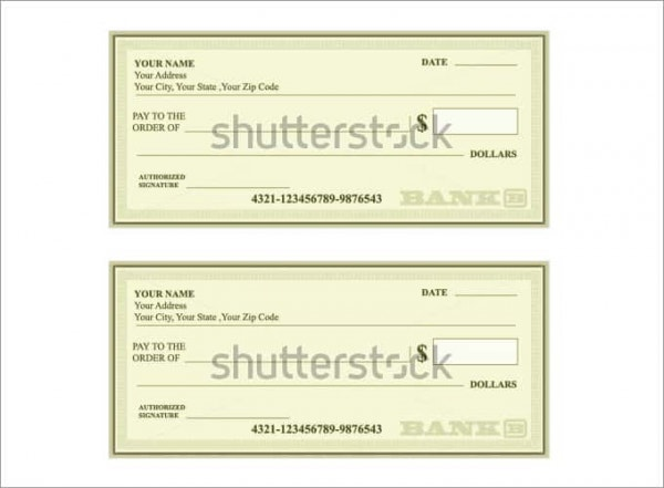 24+ blank check template - doc, psd,  & vector formats | free ...