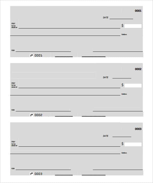 picture relating to Printable Check identified as 24+ Blank Examine Template - Document, PSD, PDF Vector Formats