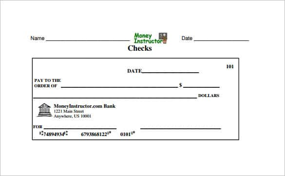 picture about Blank Checks Printable known as 24+ Blank Examine Template - Document, PSD, PDF Vector Formats