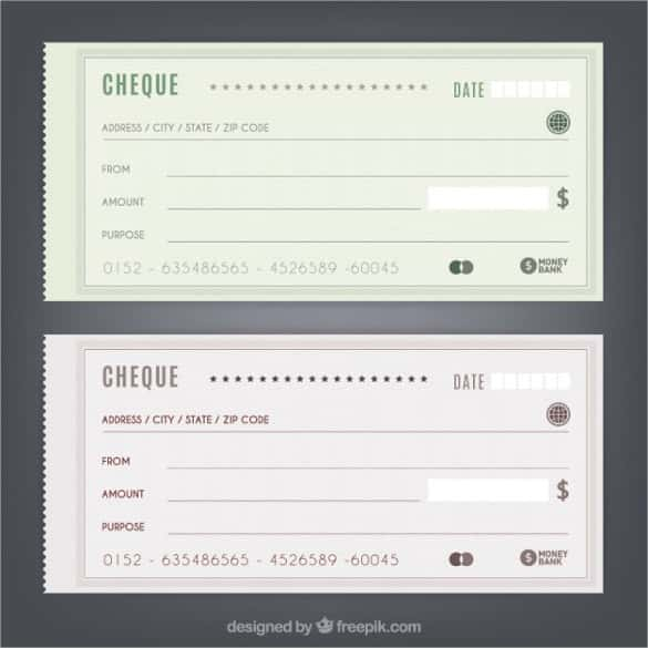 simple blank cheques free vector min