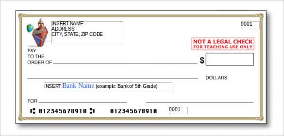 educationworldcom this blank check template for microsoft word would be handy for you when you are about to teach the banking details to little kids in