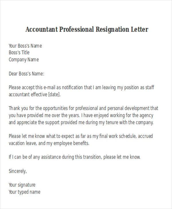 38 Resignation Letter Format Free Amp Premium Templates