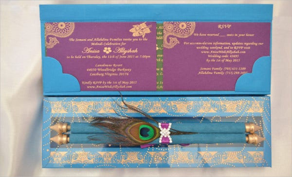 Peacock Themed Wedding Invitations