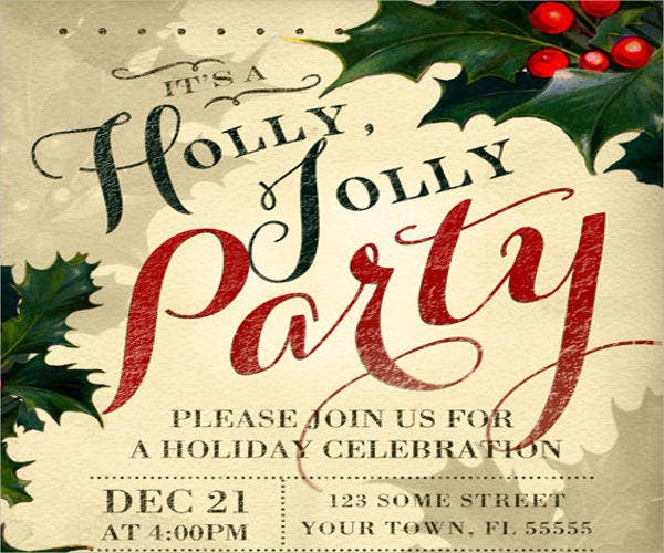 diy holiday event invitation template1