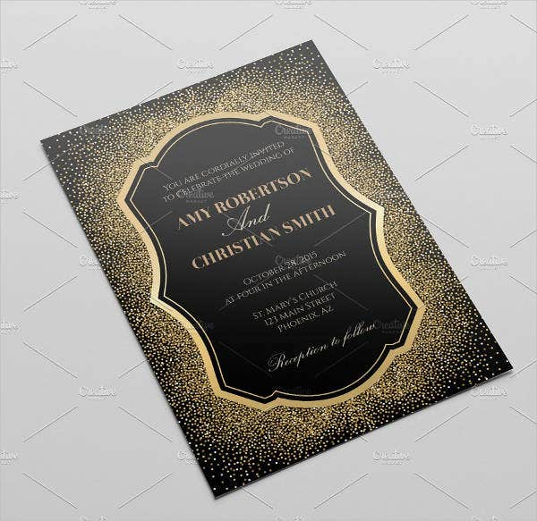 Diy Glitter Wedding Invitations
