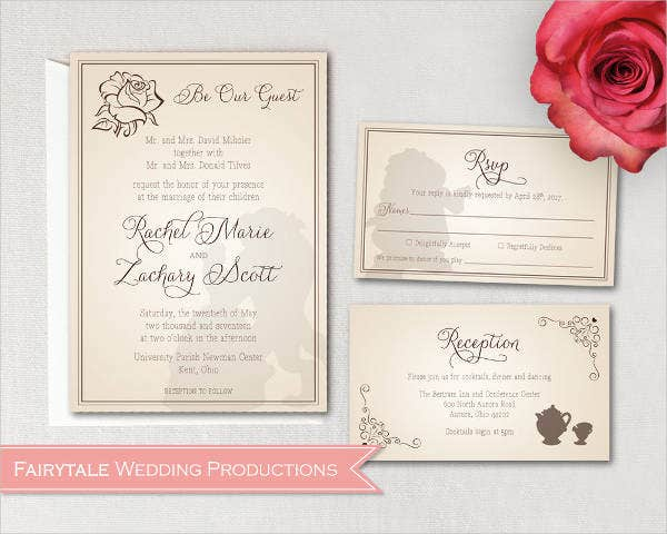 Disney Fairytale Wedding Invitations