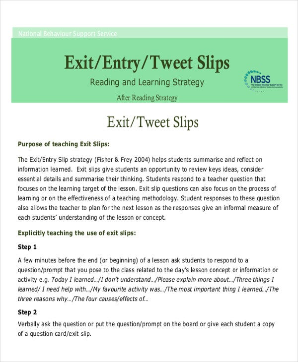 free exit ticket template3