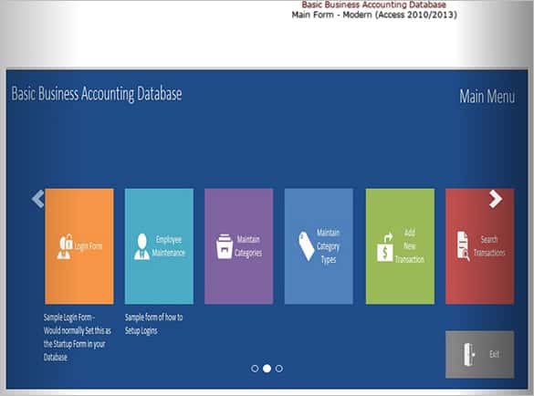 basic ms access business accounting template min