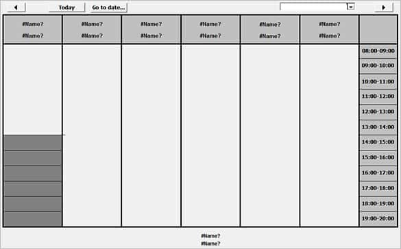 free access timetable template 2010 min