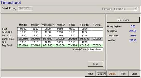 human resources timesheet in ms access 2007 min