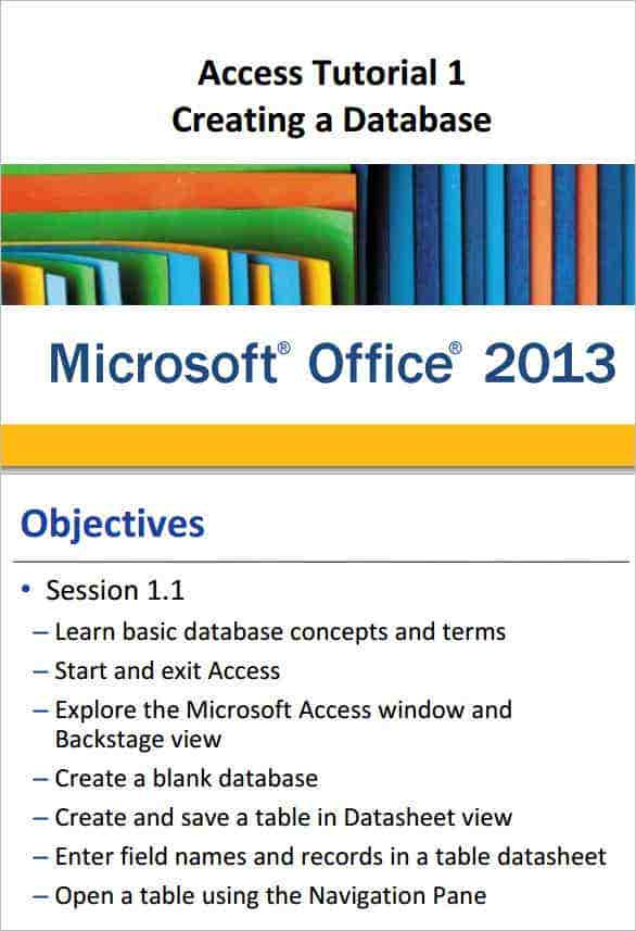 microsoft access video tutorial 2013 min