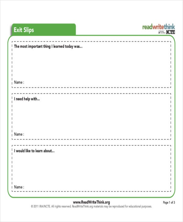 printable exit ticket template2