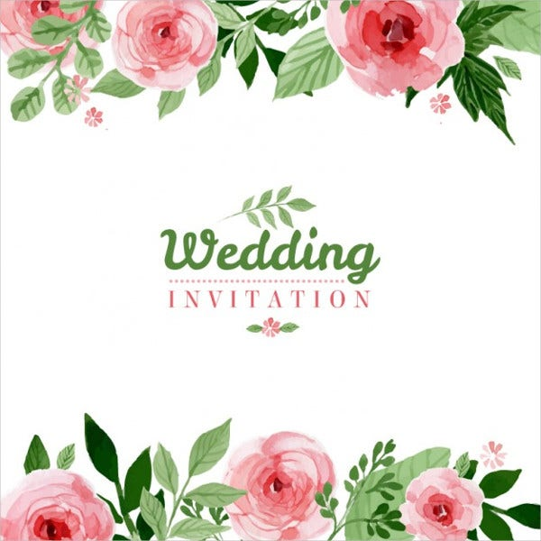 Free Floral Wedding Invitations