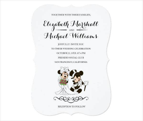 Disney Mickey Wedding Invitations