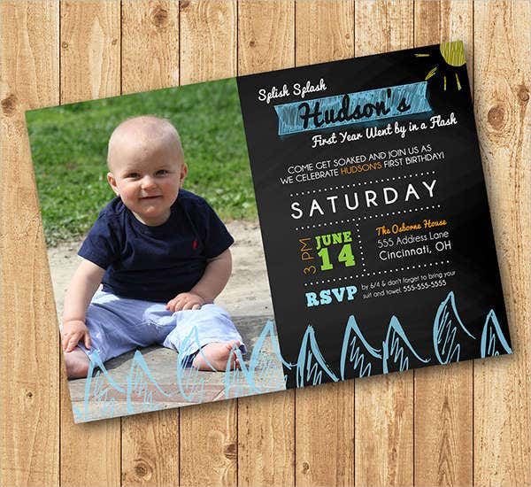 free chalkboard birthday invitation1