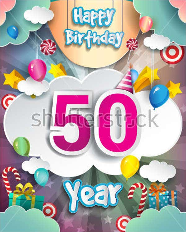 50th birthday invitation card1