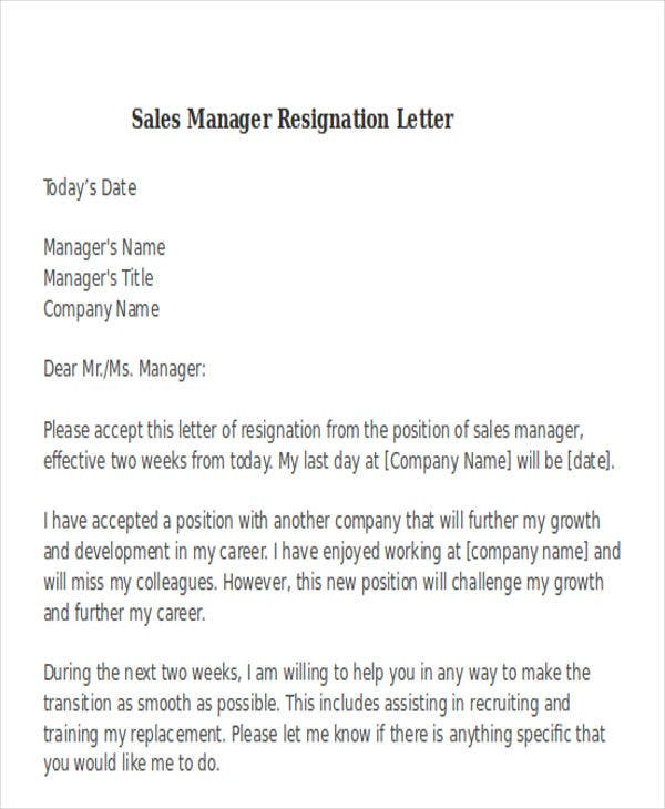Sales resignation letter image collections letter format formal sample sales resignation letter sample sales resignation mandegarfo sales resignation letter sample sales resignation expocarfo image collections spiritdancerdesigns Images