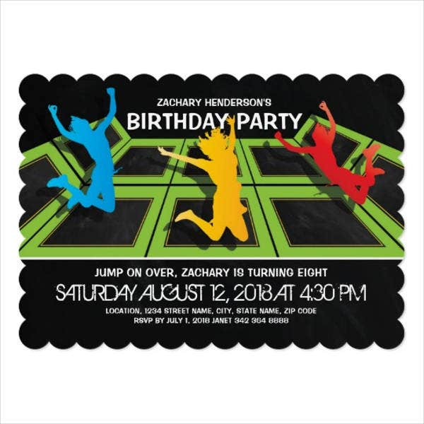 kids birthday invitation card
