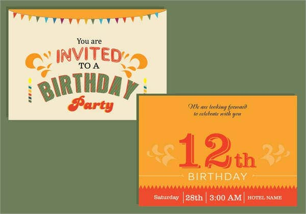 vintage birthday invitation card2