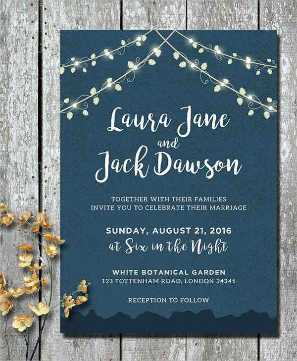 Diy Garden Wedding Invitations
