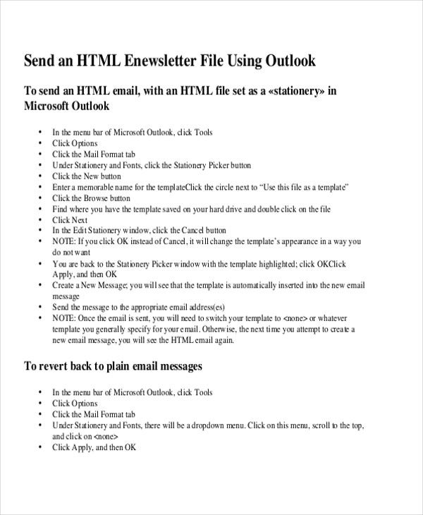6  printable html email templates