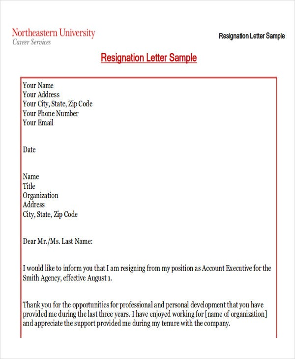 Awesome Sample Resignation Letters With Reason