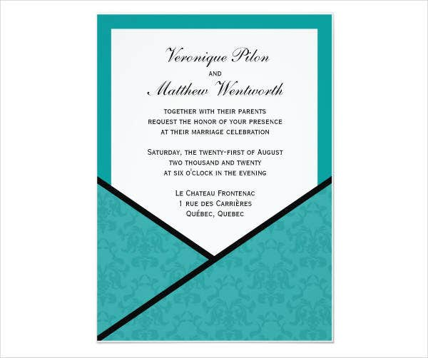 -Glitter Pocket Wedding Invitations