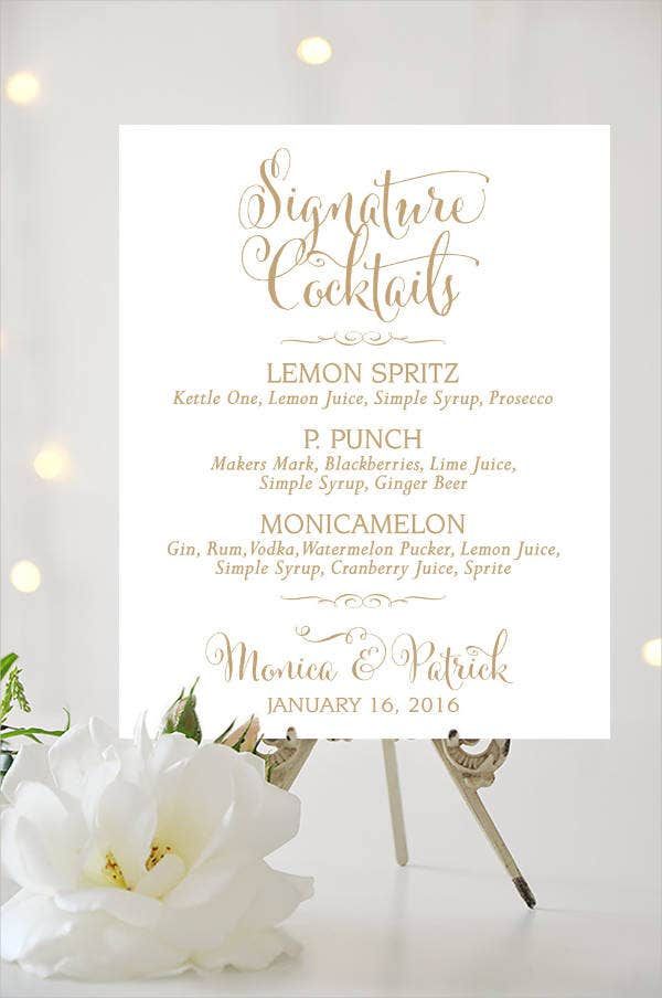Cocktail Reception Wedding Invitation