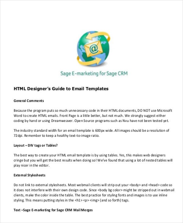 html email template for clients