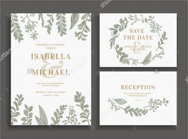 Dessert Reception Wedding Invitation